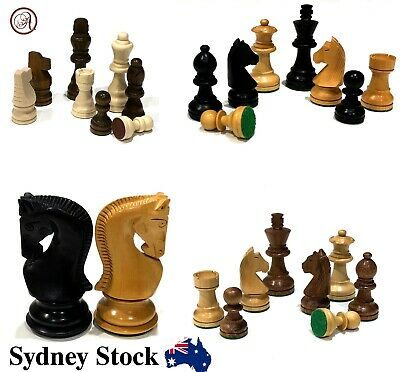 AMBRIZZOLA Wooden Chess Pieces (Select Model, Size & Colour)