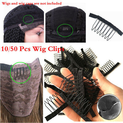 Holder Accessories Wigs Combs Hairpins Lace Wig Clips 6/7 Tooth Steel Pin
