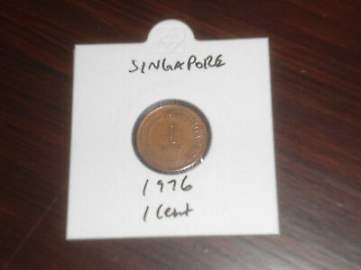 1976 Singapore 1 Cent coin Singaporean one cents