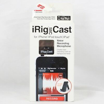 IK Multimedia iRig Mic Cast Voice Recording Microphone for iPhone NEW OPEN BOX