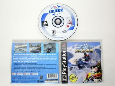 SnoCross Championship Racing game for Sony PlayStation 1 -Complete