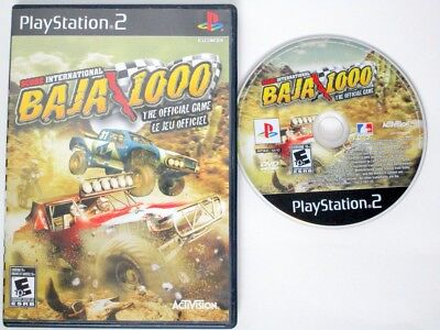 SCORE International Baja 1000 game for Sony PlayStation 2 -Game & Case