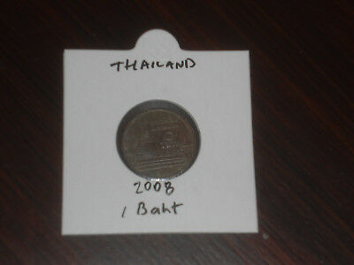 2008 Thailand 1 Baht coin Thai one bahts
