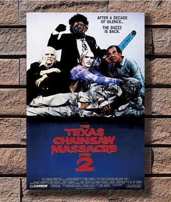 THE TEXAS CHAINSAW MASSACRE Part 2 Movie Horror Leatherface Poster 24x36 E-1363