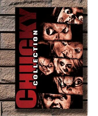 Chucky Child's Play Classic Horror Movie Poster Fabric 8x12 20x30 24x36 E-2359