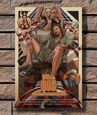 B-237 The Big Lebowski Hot Classic 1998 Vintage Movie 24x36 27x40 Fabric Poster