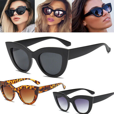 Luxury Ladies Womens Oversized Cat Eye Sunglasses Vintage Style Retro Shades e6