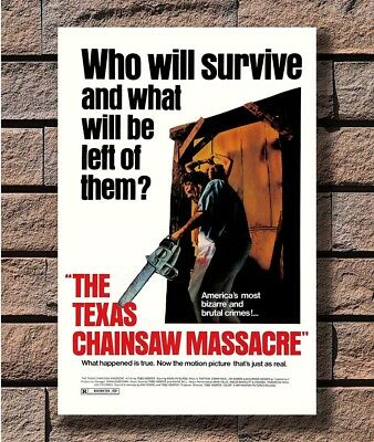 THE TEXAS CHAINSAW MASSACRE Movie Horror Leatherface Poster Fabric 24x36 E-1705