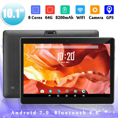 4GB+ 64 GB Tablet 10,1'' Android 7.0 HD Tablette PC Octa 8 Core bluetooth 2 SIM