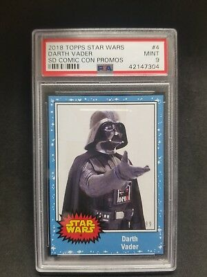 2018 SDCC Exclusive Topps #4 Star Wars Darth Vader LE #'d/199 PSA 9 🔥