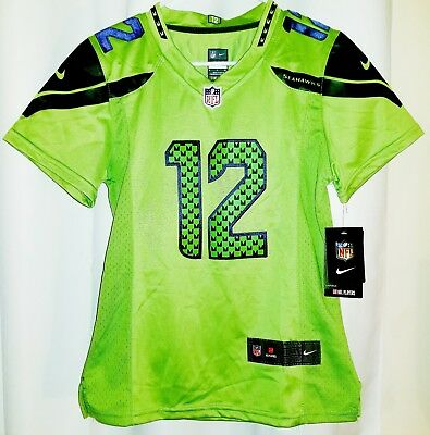 ... discount code for seattle seahawks 12th man woman jersey bright neon  green team color rush nike 7545aa9ab