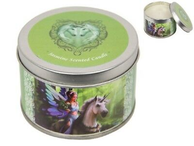Anne Stokes Unicorns Candle In Tin Realm Of Enchantment - Jasmine Scented - New