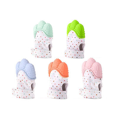 Silicone Baby Mitt Teething Mitten Teething Glove Candy Wrapper Sound Teether E6