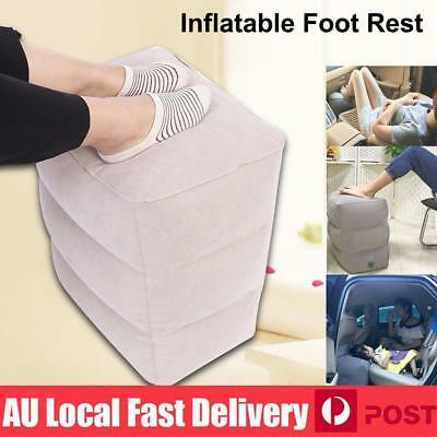 Inflatable Foot Rest Travel Air Pillow Cushion Office Home Footrest Leg Relax