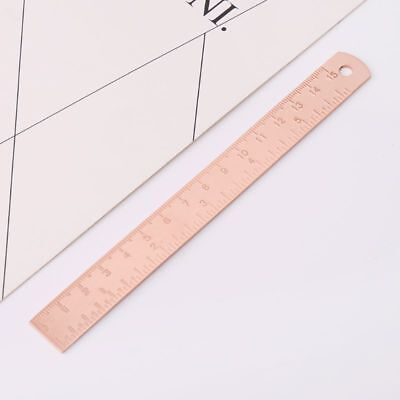 Brass Ruler Bookmark Rose Gold Measuring Straight Ruler Vintage Office Supplies
