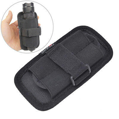 Flashlight Pouch Holster Belt Carry Case Holder With 360 Degrees Rotat E&F