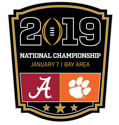 Official 2019 College Football National Championship Game Pin Clemson vs Alabama