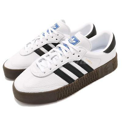 4ca17479fec adidas Originals Sambarose W White Black Gum Women Casual Shoes Sneakers  AQ1134