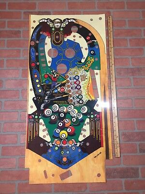 Eight Ball Deluxe 8 Ball Pinball Machine Mylar Playfield Overlay
