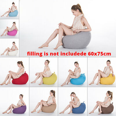 Stuffed Animal Storage Bean Bag Chair Sofa Cover Large Pouch Beanbag Lazy Couch