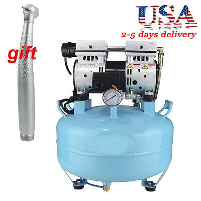 130L/min Dental Machine Medical Silent Noiseless Oilless Air Compressor  3/4HP