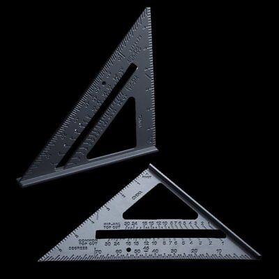"""7"""" Roofing Speed Square Aluminium Alloy Rafter Angle Measure Triangle Guide"""