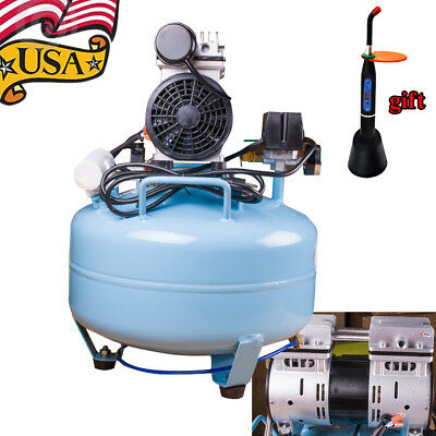 3/4HP 30L Noiseless Oilless Air Compressor for dental therapeutic Air Clean USA