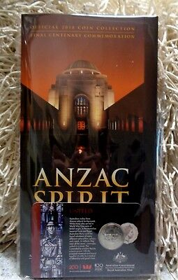 2018 Anzac Spirit Coin Collection Folder & United 50c Coin, Brand New, FREE POST