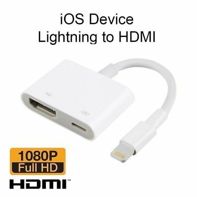 USA Lightning To HDMI Digital AV TV Cable Adapter For iPad iPhone X 8 7 6 Plus