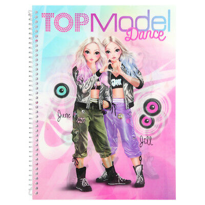 Toys Games Top Model Dress Me Up Fun Sticker Book Colouring