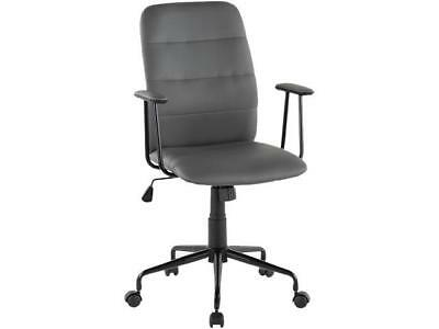 Lumisource Oc Fred Bk Gy Vintage Flair Grey Office Chair Gray