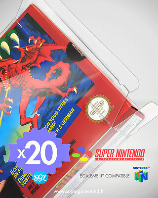 20 BOITIERS PROTECTION PROTECTIVE CASE SUPER NINTENDO SNES N64 0,4 mm NEUFS