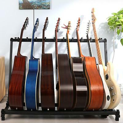 5/7Guitar Rack Stand Folding Multiple Stage Storage Guitars Display Holder Mount