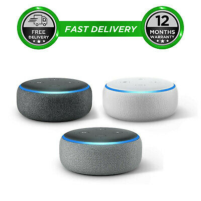 Amazon Echo Dot 3rd Generation Gen Alexa Speaker Charcoal Heather Grey Sandstone