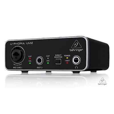 Behringer UM2 U-Phoria Audiophile 2x2 USB Audio Interface-B STOCK