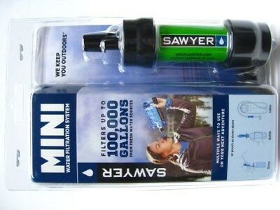 Sawyer Green Portable Mini Water Filter Filtration System w/ 16 Oz. Pouch SP101