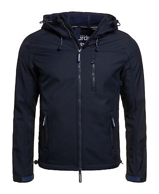 New Mens Superdry Unique Sample Hooded Windtrekker Jacket Size Small Navy