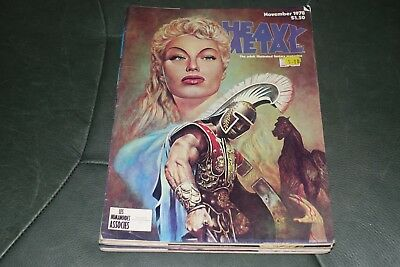 5 Fantasy Heavy Metal Magazine All From The 1970's