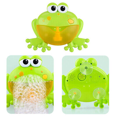 Baby Bubble Tub Frog Automatic Shower Machine Blower Maker Bath Music Toy