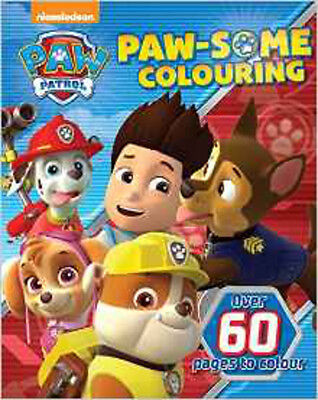 Nickelodeon Paw Patrol Paw-Some Colouring (Colouring Book), New, Parragon Nickel