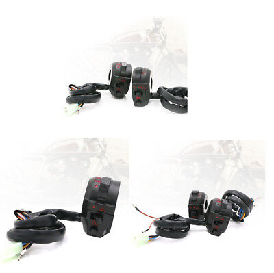 "2X 7/8"" Motorcycle Handlebar Control Switch High/Low Beam Light Horn Switch Part"