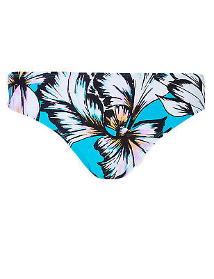 P121 Ex Marks and Spencer Floral Printed /& Plain Bikini Tops Size 12