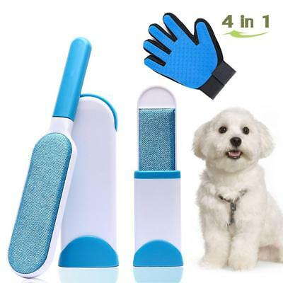 Pet Fur Lint Remover Brush, Hair Tool with Self-Cleaning Base, Dog & Cat for...