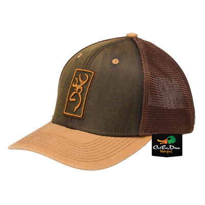 pretty nice b7a63 570a8 New Browning Hudson Mesh Back Hat Ball Cap Buckmark Logo Loden   Brown