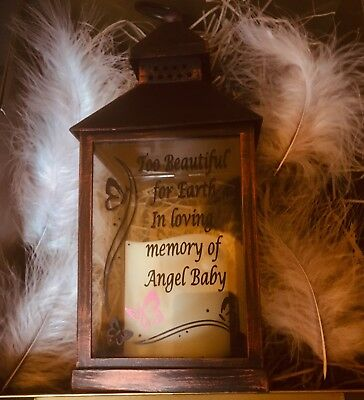 personalised memorial Lantern Baby Infant Child Loss