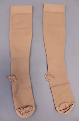 6e05daae2 Ames Walker Unisex Medical Support Closed Toe Knee Highs TW4 Beige Size 2XL