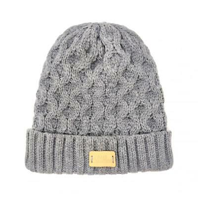 259c345ce1955 Aran Tradition Unisex Winter Acrylic Cable Knitted Beanie Hat - Grey Mix