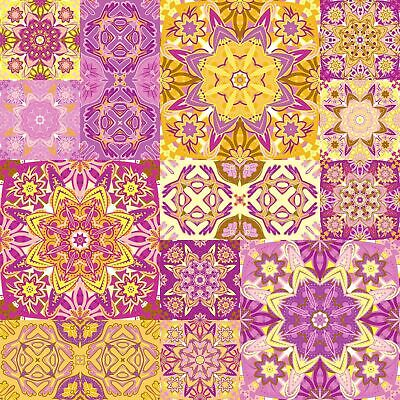 """6"""" Moroccan Style Pack of 24 Tile Sticker Transfers DIY Adhesive Decal TP15"""
