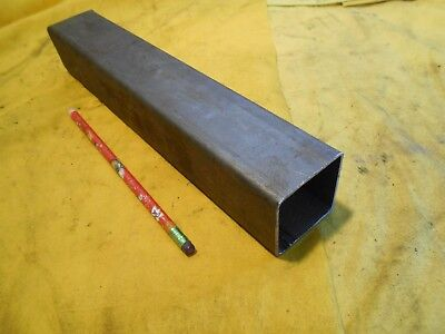 """2"""" x 2"""" x 12"""" SQUARE STEEL TUBE structural tubing welding stock welded .083 WALL"""