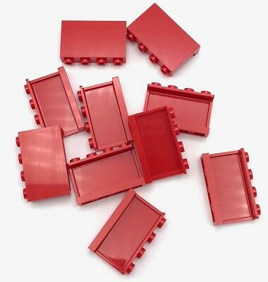 part no 4215b 2x Lego Panel 1 x 4 x 3 in Red
